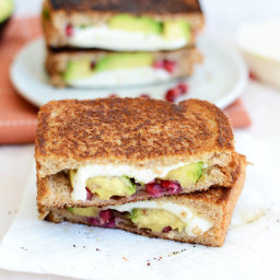 Avocado Pomegranate Grilled Cheese