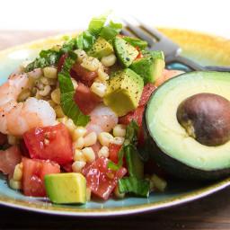 Avocado, Roasted Corn and Shrimp Salad