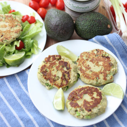Avocado Salmon Burgers