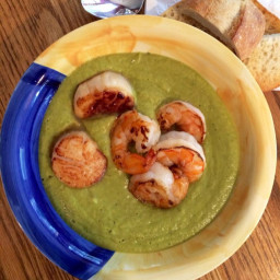 Avocado Shrimp and Scallop Stew