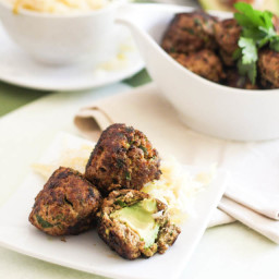 Avocado Stuffed Meatballs