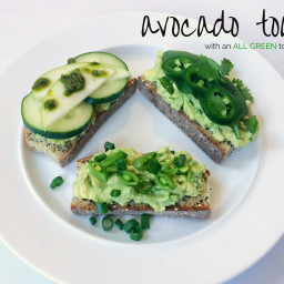Avocado Toast with an All Green Topping Bar