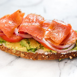 Avocado Toast With Smoked Salmon, Goat Cheese, and Capers Recipe