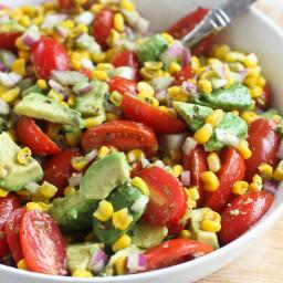 Avocado, Tomato, and Corn Salad