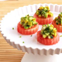 Avocado Watermelon Bites
