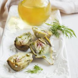 Baby Artichokes with Herb & Lemon Garlic Vinaigrette