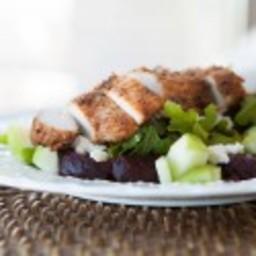 Baby Arugula Salad with Beets and Feta Cheese