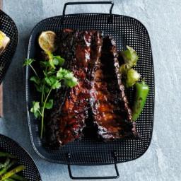 Baby Back Ribs with Bourbon-Black Pepper Sauce