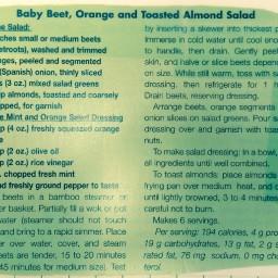 Baby Beet, Orange, and Toasted Almond Salad