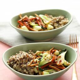 Baby Bok Choy Stir Fry with Quinoa