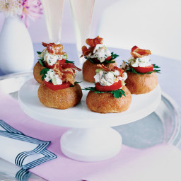 Baby Brioches with Chicken Salad and Bacon