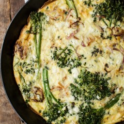 Baby Broccoli Frittata with Feta