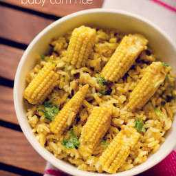 baby corn pulao recipe