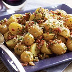 Baby Yukon Potato Salad with Shallots, Chives, Bacon and Lemon Vinaigrette