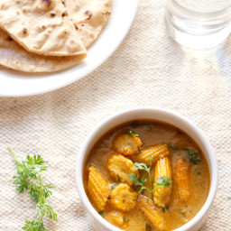 baby corn masala curry recipe