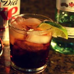 Bacardi Rum and Diet Coke