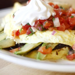 Bacon and Avocado Omelet with Salsa