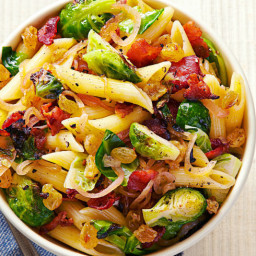 Bacon and Brussels Sprout Penne