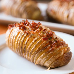 Bacon and Cheese Hasselback Potatoes