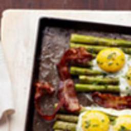Bacon and Eggs Over Asparagus