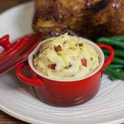 Bacon & Gouda Yukon Mashed Potatoes