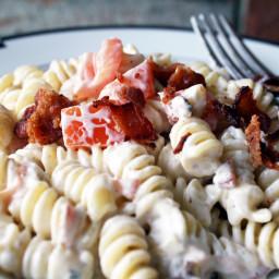 Bacon and Tomato Ranch Pasta Salad