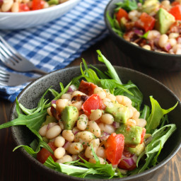 Bacon Avocado White Bean Salad