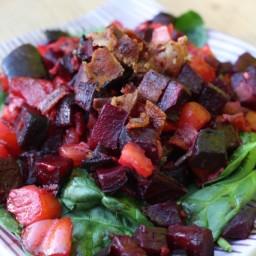 Bacon, Beet, Tomato Salad