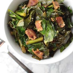 Bacon Braised Collard Greens