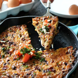Bacon Corn and Sweet Peas Frittata