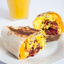 Bacon, Egg and Cheese Breakfast Wrap