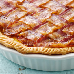 Bacon Lattice Breakfast Pie