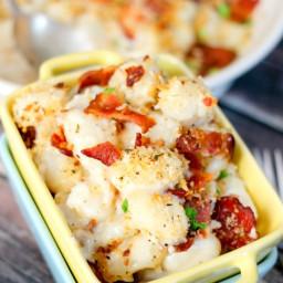 Bacon & 'Mac' & Cheese Gnocchi