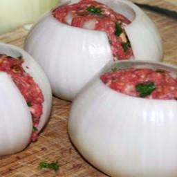 Bacon Onion-wrapped Meatball Bombs