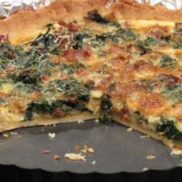 BACON, PEA, AND GOAT CHEESE FRITTATA