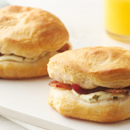 Bacon-Stuffed Breakfast Biscuit Sandwiches