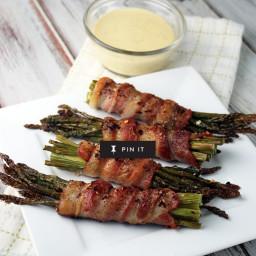 Bacon Wrapped Asparagus, Keto Style!