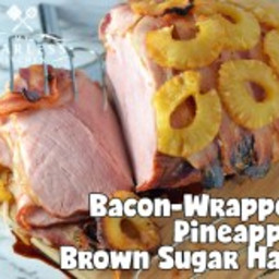 Bacon-Wrapped Pineapple Brown Sugar Oven-Baked Ham