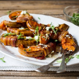 Bacon-wrapped pumpkin slices
