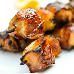 Bacon-Wrapped Chicken Skewers with Pineapple and Teriyaki Sauce