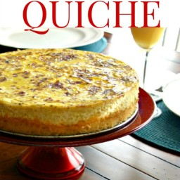 Bacon Cheddar Grits Quiche