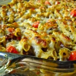 Bacon Pesto Pasta Bake