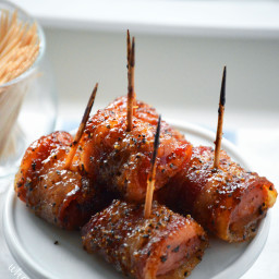 Bacon Wrapped Kielbasa with Brown Sugar Glaze