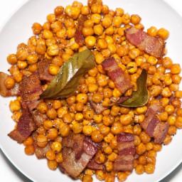 Bacony Roasted Chickpeas