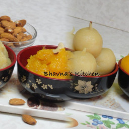 Badam Halwa or Sheera (Almond Pudding