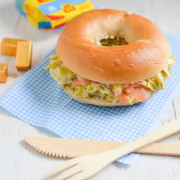 Bagel fondue de poireaux saumon kub or