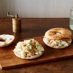 Bagels and Lox Breakfast Egg Sandwich