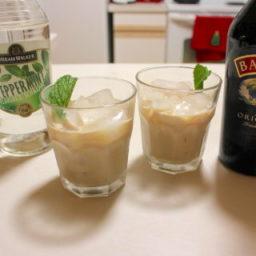 Baileys Irish Cream with Peppermint Schnapps