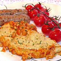 Baked bean omelette