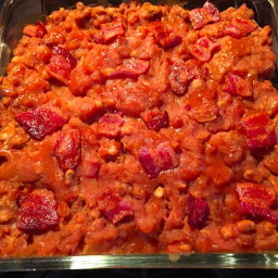 baked beans with grama browns help